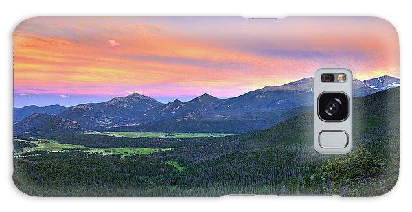 Longs Peak Sunset Galaxy Case by David Chandler