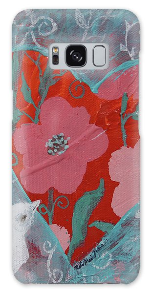 Galaxy Case featuring the painting Look Into My Heart  by Robin Maria Pedrero