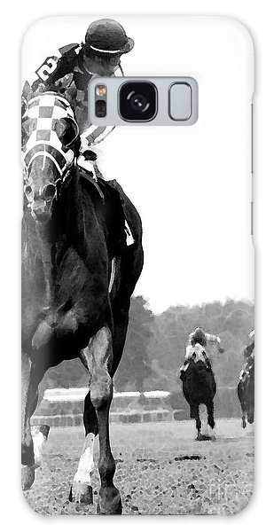 Harley Galaxy Case - Looking Back, 1973 Secretariat, Stretch Run, Belmont Stakes by Thomas Pollart