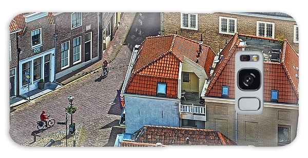 Looking Down From The Church Tower In Brielle Galaxy Case by Frans Blok