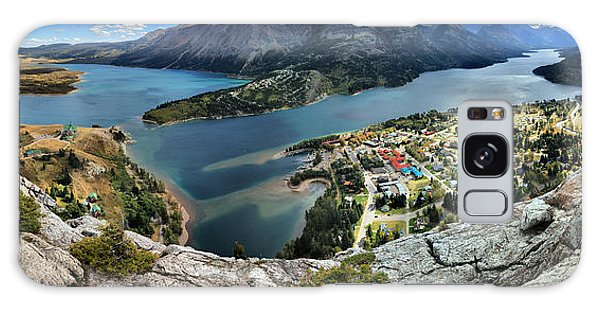Looking Down On Waterton Lakes Galaxy Case