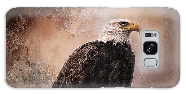 Looking Forward - Eagle Art Galaxy Case by Jordan Blackstone