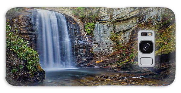 Looking Glass Falls In The Blue Ridge Mountains Brevard North Carolina Galaxy Case