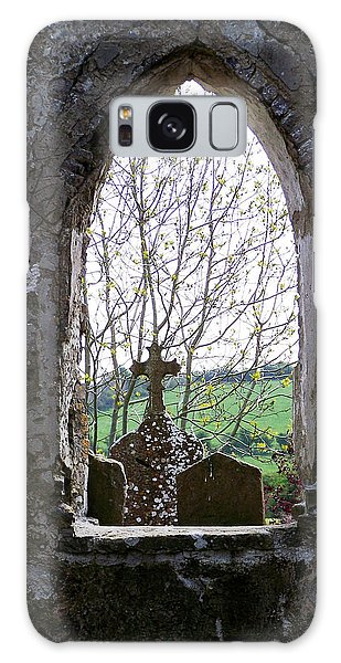 Looking Out Fuerty Church Roscommon Ireland Galaxy Case