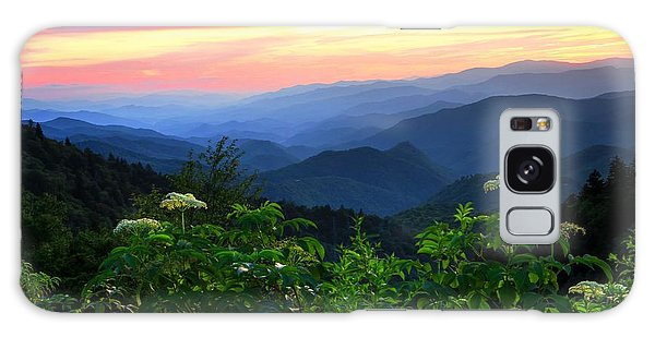 Looking Out Over Woolyback On The Blue Ridge Parkway  Galaxy Case