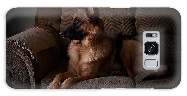 Looking Out The Window - German Shepherd Dog Galaxy Case