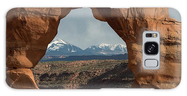 Looking Through Delicate Arch Galaxy Case