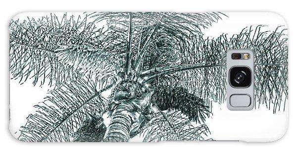 Looking Up At Palm Tree Green Galaxy Case by Ben and Raisa Gertsberg