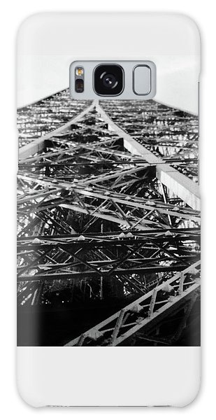 Looking Up From The Eiffel Tower Galaxy Case