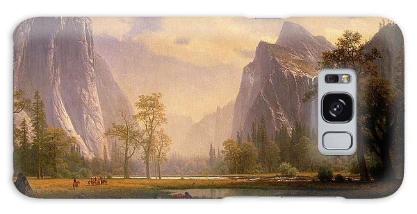 Looking Up The Yosemite Valley  Galaxy Case