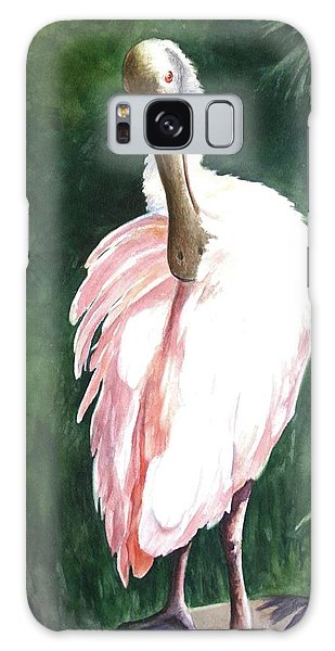 Look'n Back - Spoonbill Galaxy Case by Roxanne Tobaison