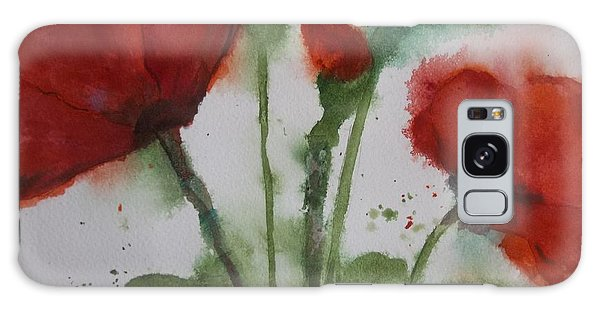 Loose Poppies Galaxy Case