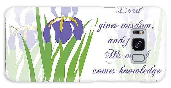 Lord Gives Wisdom Proverbs Galaxy Case