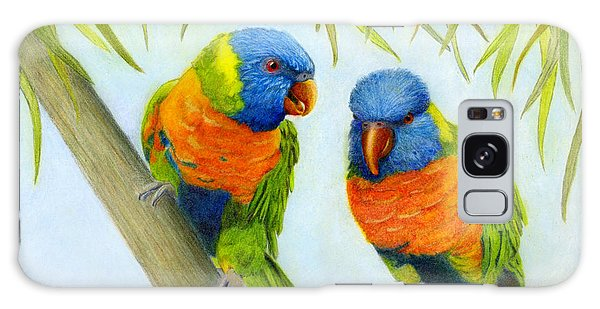 Lorikeet Pair Galaxy Case