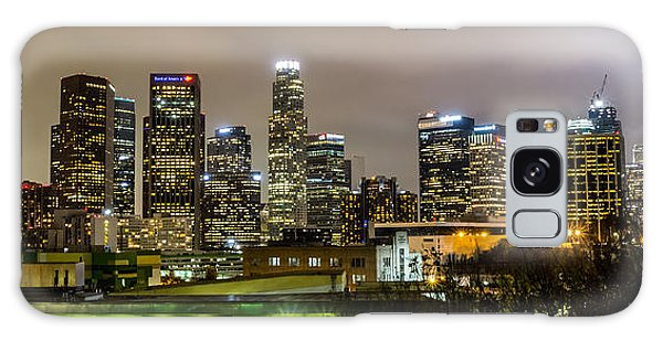 Los Angeles At Night Galaxy Case by April Reppucci