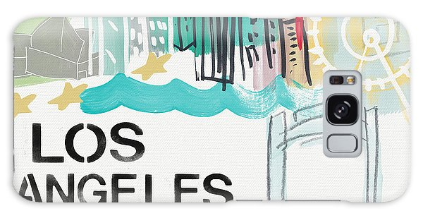 Los Angeles Cityscape- Art By Linda Woods Galaxy Case