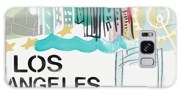 Los Angeles Cityscape- Art By Linda Woods Galaxy Case by Linda Woods