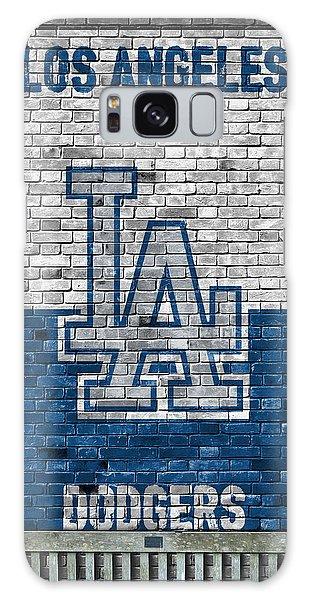 Los Angeles Dodgers Galaxy S8 Case - Los Angeles Dodgers Brick Wall by Joe Hamilton