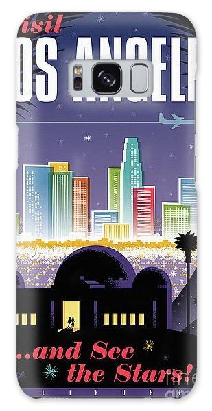 Pop Galaxy Case - Los Angeles Poster - Retro Travel  by Jim Zahniser
