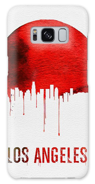 Los Angeles Skyline Red Galaxy Case
