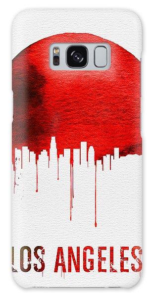 California Galaxy Case - Los Angeles Skyline Red by Naxart Studio