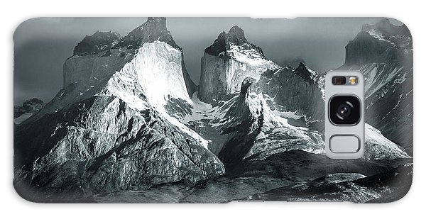 Los Cuernos In Black And White Galaxy Case by Andrew Matwijec