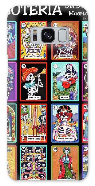 Calavera Galaxy Case - Loteria Dia De Los Muertos by Candy Mayer