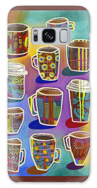 Galaxy Case featuring the painting Lots Of Lattes by Carla Bank