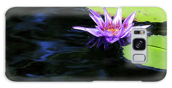 Lotus And Dark Water Refection Galaxy Case
