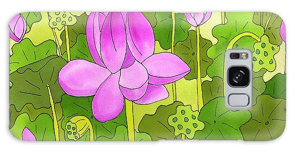 Lotus And Waterlilies Galaxy Case