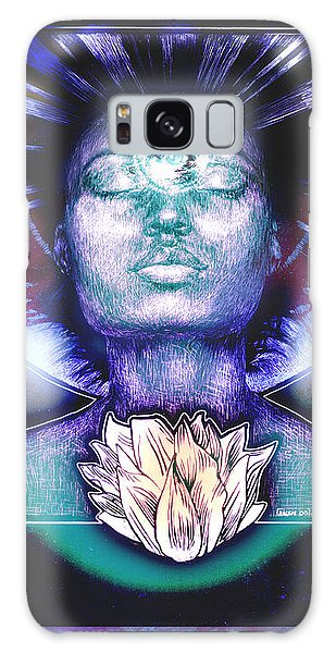 Galaxy Case featuring the painting Lotus Bloom by Ragen Mendenhall