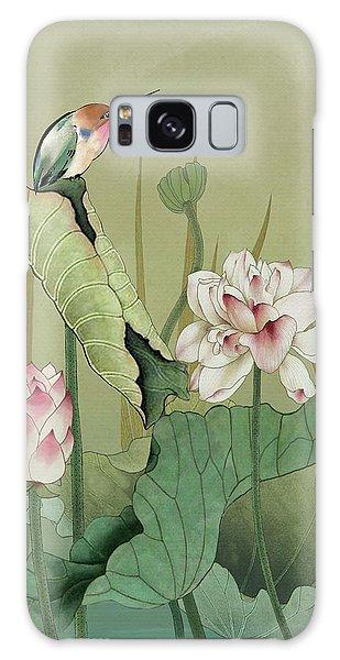Lotus Flower And Hummingbird Galaxy Case