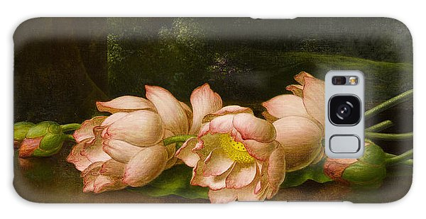 Orchidaceae Galaxy Case - Lotus Flowers  by Martin Johnson Heade