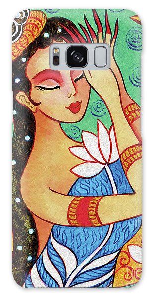 Lotus Meditation Galaxy Case