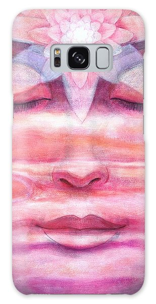 Lotus Meditation, Jupiter Clouds Galaxy Case