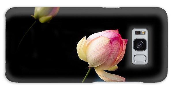 Lotus On Black Galaxy Case