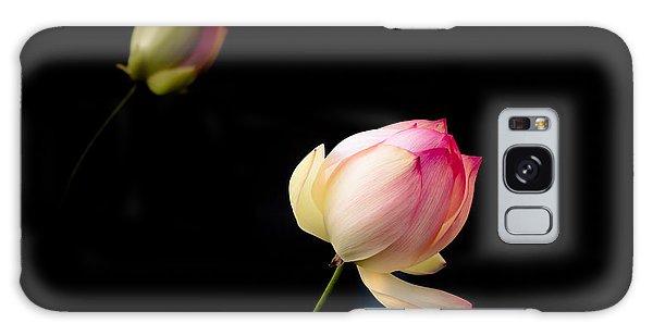 Lotus On Black Galaxy Case