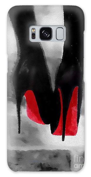 Louboutin At Midnight Black And White Galaxy Case