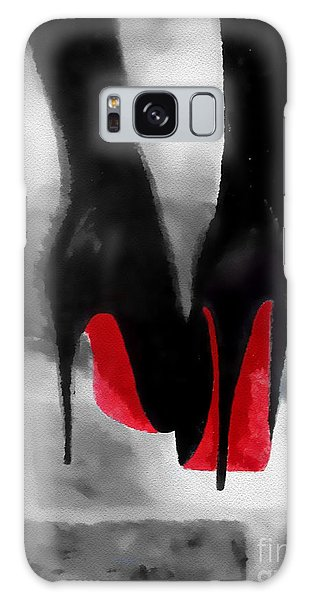 Galaxy Case - Louboutin At Midnight Black And White by Rebecca Jenkins