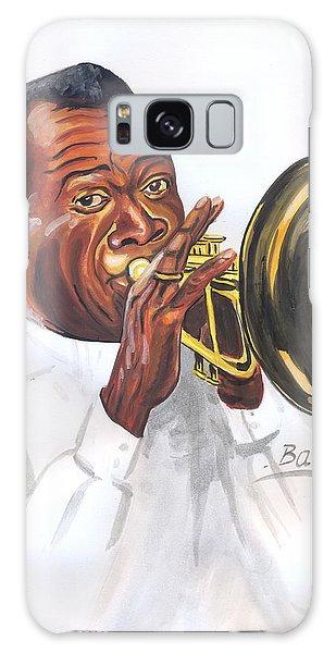 Louis Armstrong Galaxy Case by Emmanuel Baliyanga
