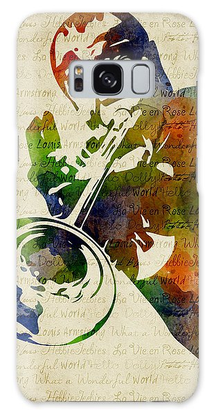 Louis Armstrong Watercolor Galaxy Case by Mihaela Pater
