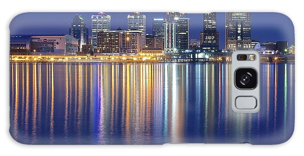 Louisville During Blue Hour Galaxy Case by Frozen in Time Fine Art Photography