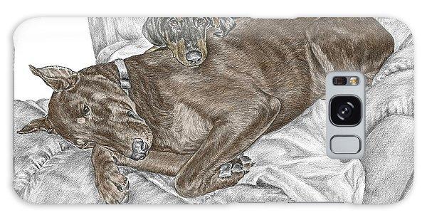 Lounge Lizards - Doberman Pinscher Puppy Print Color Tinted Galaxy Case