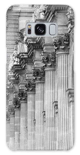 Galaxy Case featuring the photograph Louvre Pillars, Paris, 2015 by Hitendra SINKAR