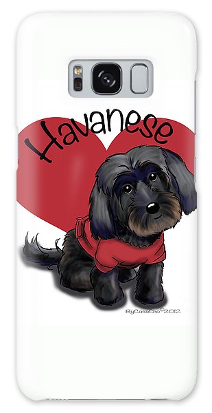 Lovable Black Havanese Galaxy Case
