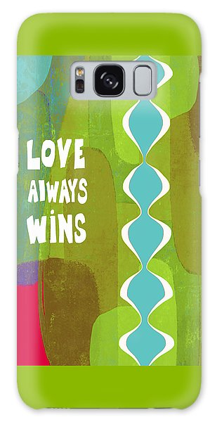 Love Always Wins Galaxy Case by Lisa Weedn