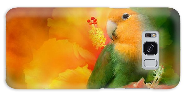 Hibiscus Galaxy Case - Love Among The Hibiscus by Carol Cavalaris