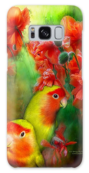 Love Among The Poppies Galaxy Case by Carol Cavalaris