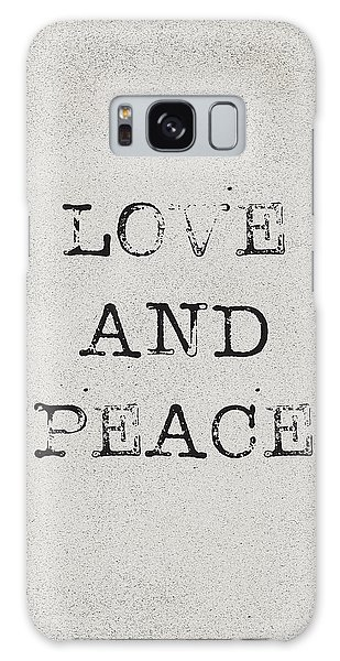 Peace Galaxy Case - Love And Peace by Kathleen Wong