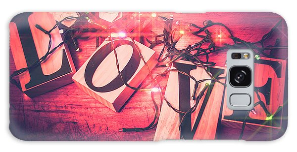 Crane Galaxy S8 Case - Love Birds And Wooden Sentiments by Jorgo Photography - Wall Art Gallery